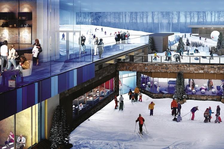 Estación de esquí artificial