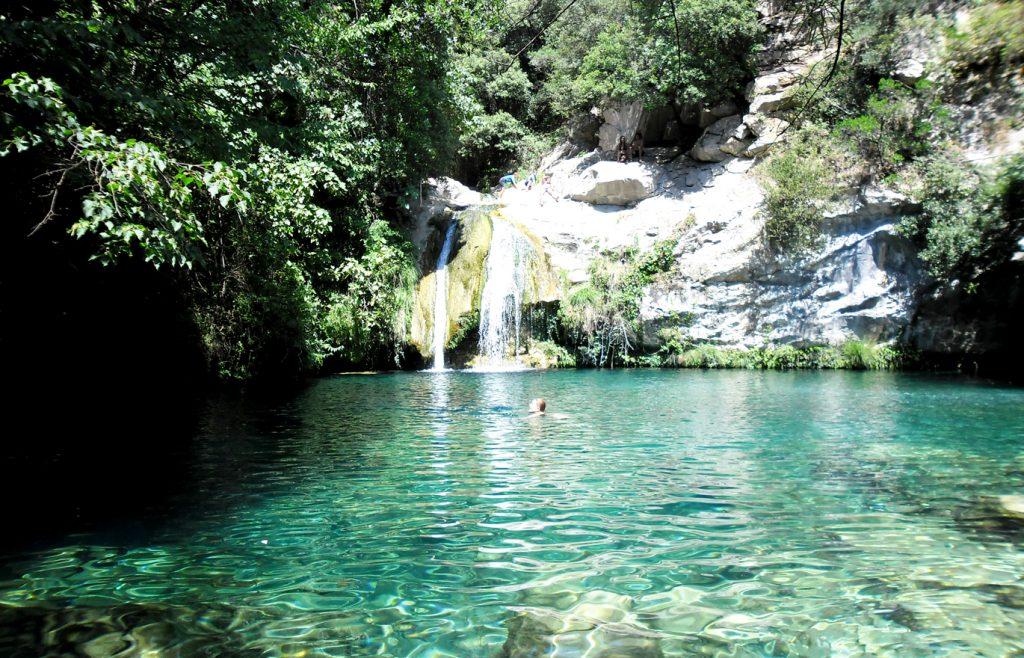 Piscinas naturales Cataluña: Gorg Blau, Sadernes