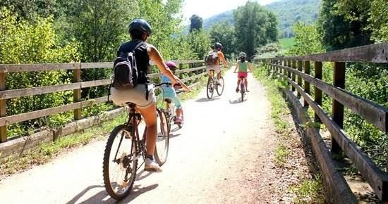 Vía verde bicicleta Gerona