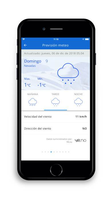 App Estiber pronóstico meteorológico