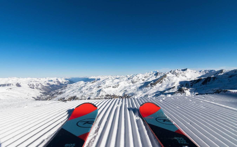 Estacion esqui Val Thorens Alpes franceses