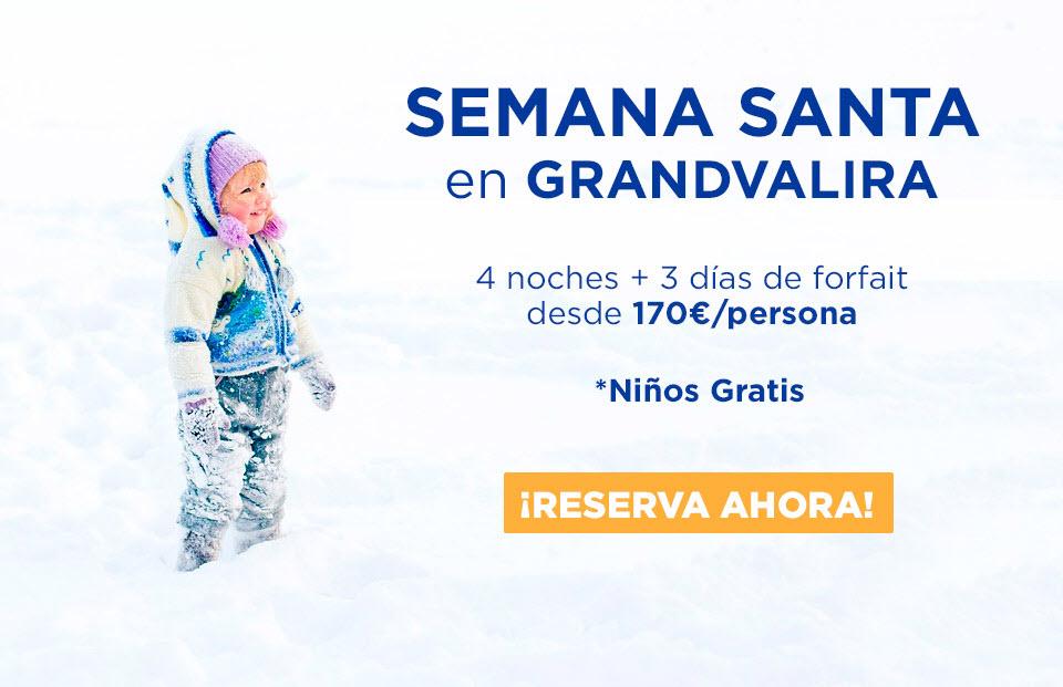Ofertas esquí Grandvalira niños gratis