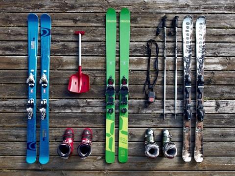 Organizar material esquí