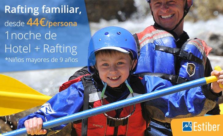 Ofertas rafting con niños