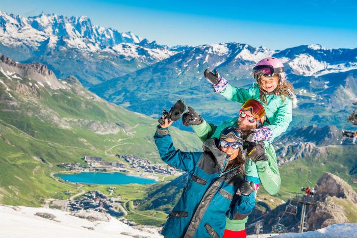 Esquiar en verano Tignes