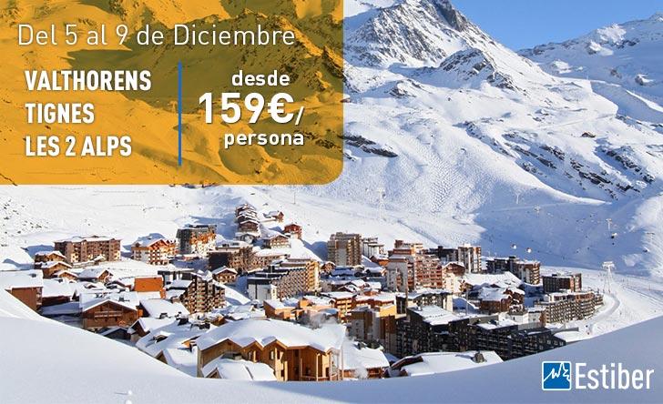 Ofertas esquí Alpes Puente Inmaculada