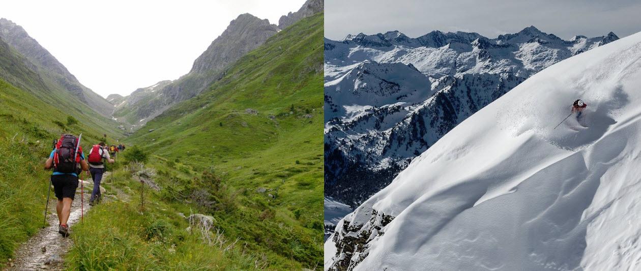 Fin de semana en Pirineo catalán: ¿Invierno o verano?