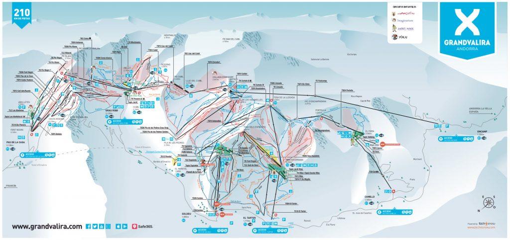 Mapa de pistas Grandvalira Estiber