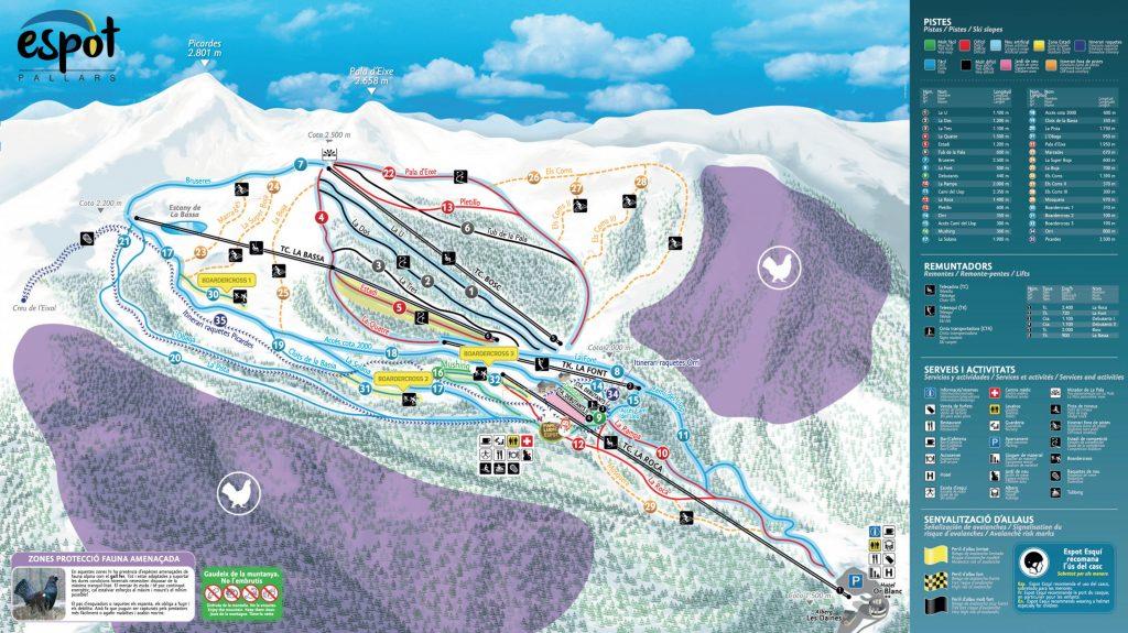 plano pistas espot esqui