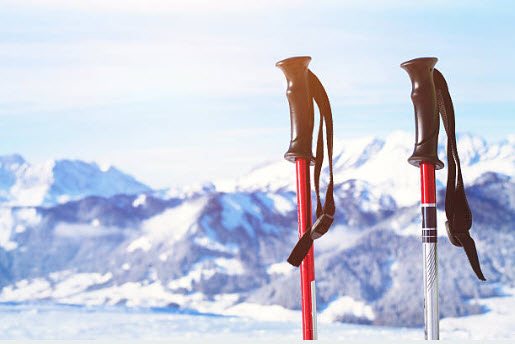 empuñadura bastones de esqui