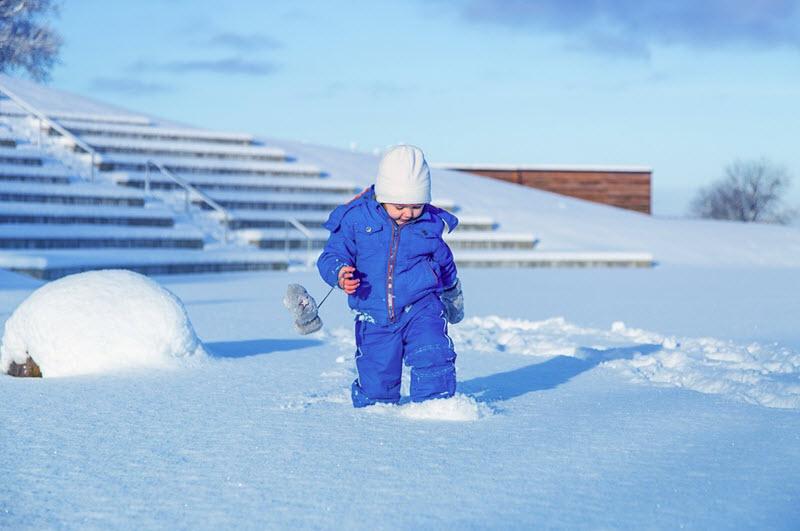 fin de semana en la nieve con niños