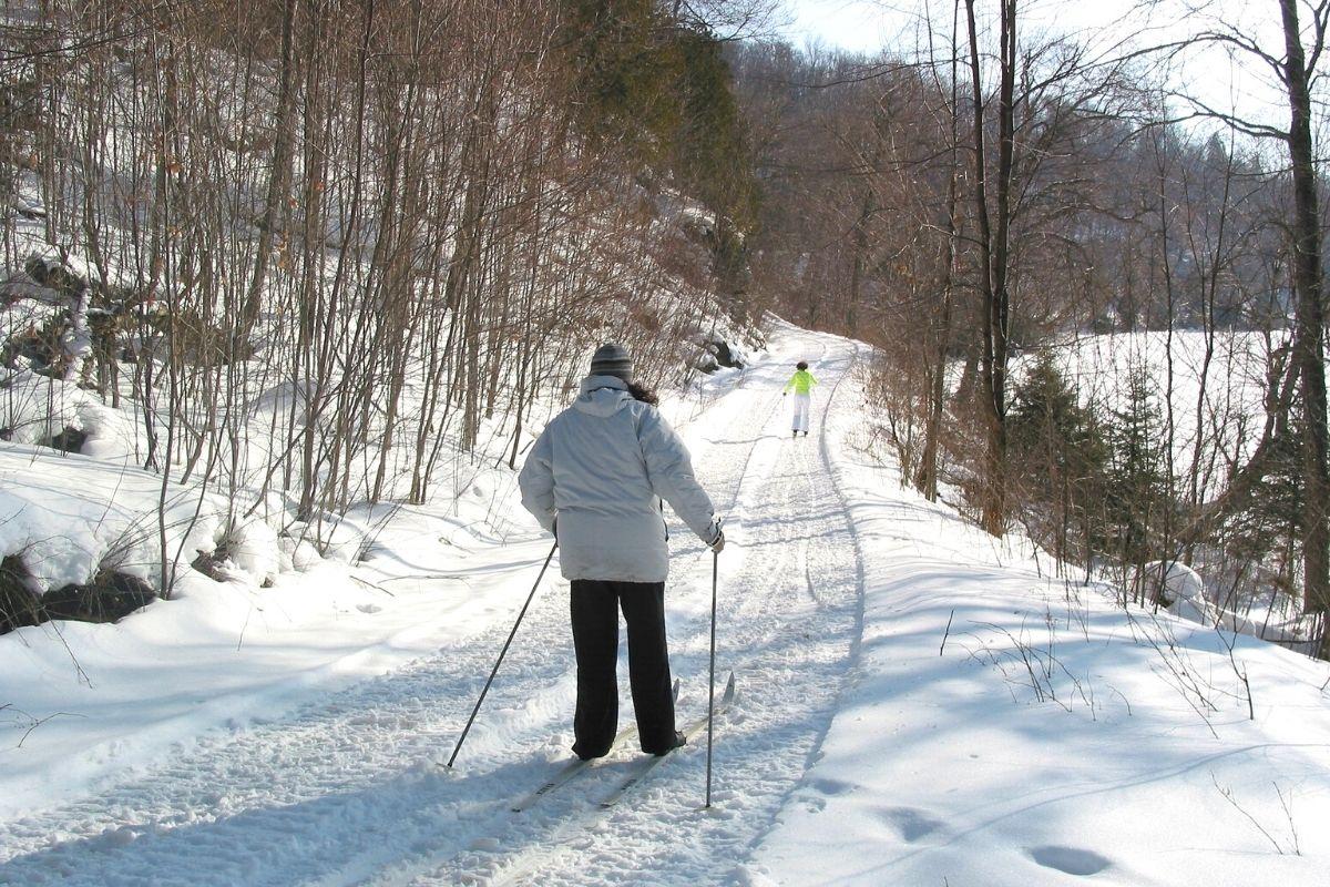 practicando esquí nórdico