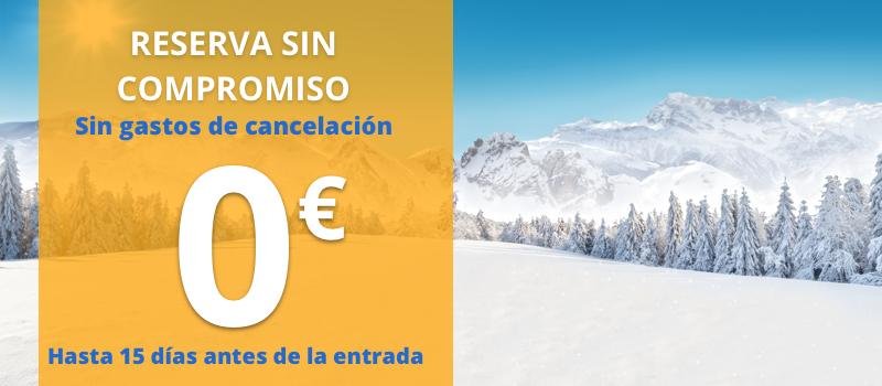 reserva esquí con cancelación