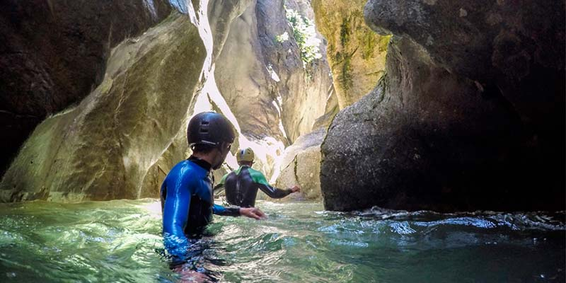 The adventure of canyoning in Catalan Pyrenees