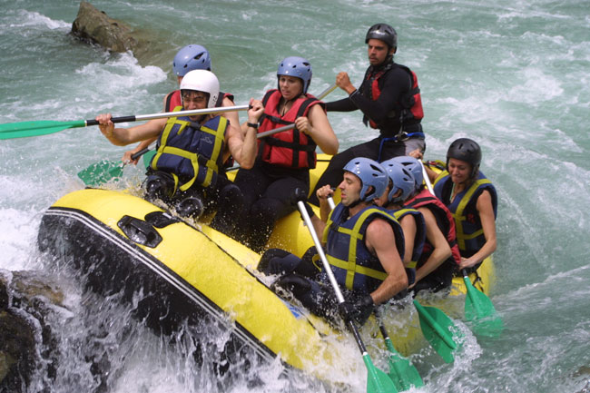 Escapadas de rafting en Benasque