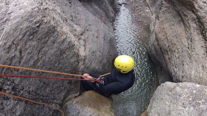 Canyoning in Catalan Pyrenees