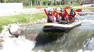 1 Night with Rafting in Andorra